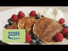Here's how to make pancakes, the Joe Wicks way! These protein and berry pancakes are the best, healthy alternative for breakfast. Nut Recipes, Cooking Recipes, Waffles, Joe Wicks The Body Coach, Protein Pancakes, Protein Breakfast, Whey Protein, Plant Based Breakfast, Waffle