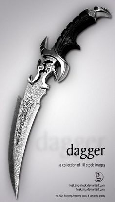 freaksmg-stock - dagger by freaksmg-stock on DeviantArt Ninja Weapons, Anime Weapons, Weapons Guns, Fantasy Dagger, Fantasy Weapons, Pretty Knives, Cool Knives, Swords And Daggers, Knives And Swords