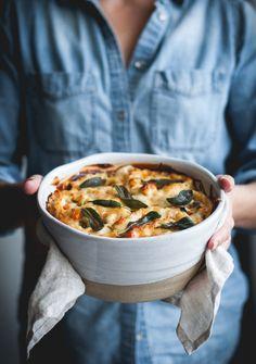 Four Cheese Vertical Roll Lasagna + Butternut Squash, Sausage & Kale - The Kitchen McCabe