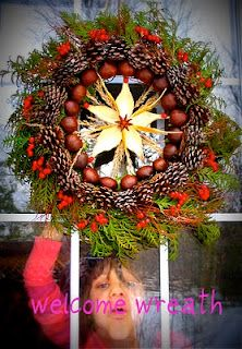 Twig and Toadstool: Winter crafts--Welcome Wreath (made w/ found natural materials)