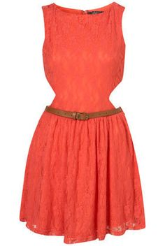 Cut Out Side Lace Dress by Rare** - Topshop