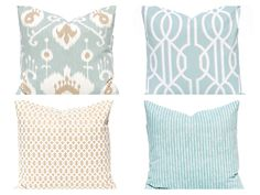 Sofa Pillow Covers - Decorative Pillow Covers - Seafoam Green Cushion Covers…