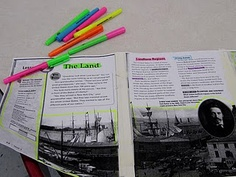 Nonfiction TextMapping- with a lot of guided instruction first, kids could be great at this!