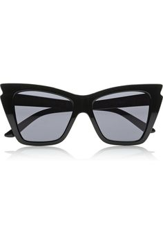 Le Specs | Rapture cat eye acetate #black #summer #sunglasses
