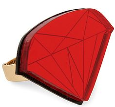 Our Ruby Ring will instantly bring out your inner Dorothy. Made from gleaming scarlet acrylic, it's perfect for injecting everyday outfits with a playful, ladylike edge. Find it exclusively at Selfridges in-store and online here: http://www.selfridges.com/en/Womenswear/Categories/Jewellery-watches/Jewellery/Ruby-ring_295-3000036-XRRUBRED/