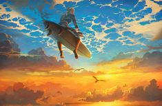 Beautiful world Art Print by Artem Rhads Cheboha Art And Illustration, Illustration Pictures, Illustrations Posters, Surreal Art, Oeuvre D'art, Beautiful World, Beautiful Scenery, Modern Art, Cool Art