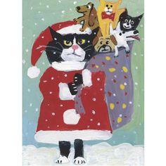 Humane Society Christmas card? Cats