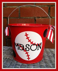 Monogrammed Easter Bucket Easter Basket by ChicMonogram on Etsy, $26.00