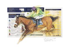 KAUTO STAR King George VI Limited Edition Horse Racing Print by Equestrian Artist Terence Gilbert