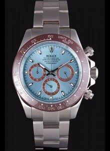 Rolex Daytona Ice Blue Dial Brown Bezel Stainless Steel Bracelet 621572