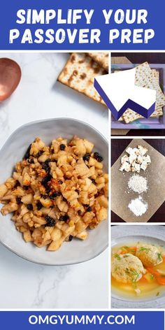 Passover recipes and resources for creating a simple seder menu for a traditional passover meal or a quick chametz-free dish anytime. #Passover #PassoverRecipes #Matzo Passover Recipes, Jewish Recipes, Passover Meal, Kosher Recipes, Cooking Recipes, Meal Recipes, Seder Meal, Matzo Meal, Holiday Recipes
