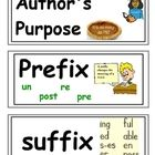 Includes 54 words! This could get you started on your classroom word wall!  Includes Marzano vocabulary as well.Author's purpose, prefix, suffi...