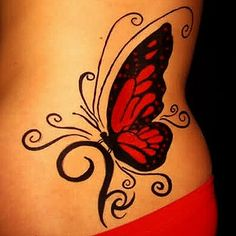 butterfly eye tattoos | Red butterfly tattoo - Butterflies tattoos photos
