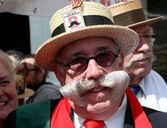 """Le titre de """"Plus belle moustache de Bruxelles"""" 2013 a été décerné hier dans les Marolles! -  Brussels, Belgium"""