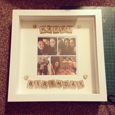 Happy birthday scrabble frame! Perfect pressie x