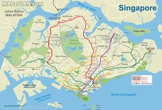 Metro Subway Underground Tube public transport train lines network geographic guide Singapore top tourist attractions map