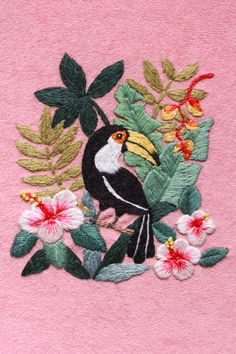 """Check out my @Behance project: """"Toucan Hand Embroidery"""" https://www.behance.net/gallery/60884341/Toucan-Hand-Embroidery"""