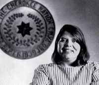 Wilma Pearl Mankiller (November 18, 1945 – April 6, 2010) was the first female Chief of the Cherokee Nation. She served as principal chief for ten years from 1985 to 1995. Wilma Pearl Mankiller was born in Tahlequah, Oklahoma, the sixth of eleven children, to Charley Mankiller (November 15, 1914 – February 20, 1971) and Clara Irene Sitton (born September 18, 1921). Her father was a full-blooded Cherokee and her mother was a Caucasian woman of Dutch and Irish descent who acculturated…