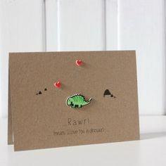 'Rawr Means I Love You' Dinosaur Card