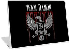 Team Damon Blood Crest | Inspired by the Vampire Diaries | Design available for PC Laptop, MacBook Air, MacBook Pro, & MacBook Retina