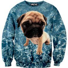 ☮♡ Pug Sweater ✞☆    #pug #1991inc #sweater