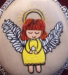 Best Rock, Rock Crafts, Made Goods, Stone Art, Rock Painting, Painted Rocks, Fairies, Angels, Collage