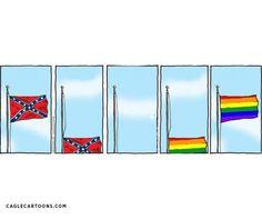 LGBT Pride Flag >>>> Flag of Treason.