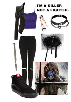 """Creepypasta-Eyeless Jack"" by culleen9300 ❤ liked on Polyvore featuring Topshop, WearAll and Vans"