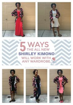All new LuLaRoe style!  The Shirley Kimono see it styled 5 ways! Simple Style tips for the Shirley Kimono.