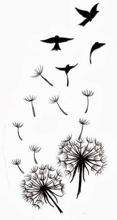 Dandelion tattoo images for beautiful women