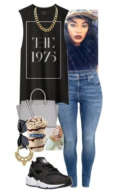 """Untitled #293"" by amcclay on Polyvore featuring H&M, MICHAEL Michael Kors, Le Specs and NIKE"