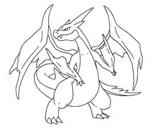 Mega Charizard Pokemon Coloring Pages                                                                                                                                                                                 Mehr