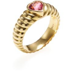 Tiffany & Co. Women's Vintage Tiffany & Co. Pink Sapphire Heart Ring -... ($775) ❤ liked on Polyvore featuring jewelry, rings, gold, band rings, heart shaped rings, 18k gold ring, gold rings and heart ring