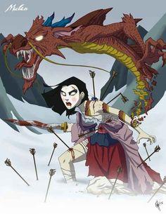 Mulan - Mulan | 19 Delightfully Macabre Disney Heroines