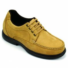 Tan Leather Taller Men's Casual Shoes