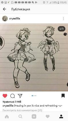 Art Drawings Sketches, Cute Drawings, Pretty Art, Cute Art, Poses References, Drawing Skills, Character Drawing, Character Design Inspiration, Cartoon Art
