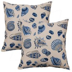 Low Tide Mar-inche 17-inch Throw Pillows