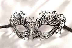 Black Masquerade Mask  Laser Cut Metal by MasquerademaskStudio, $32.95