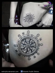 rudder tattoo - rose of the winds tattoo by redtrujillo.deviantart.com on @DeviantArt