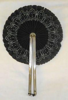 Antique 1800's Pleated Cockade Hand Fan | eBay