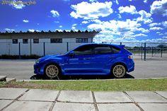 Blue Subaru Impreza STi