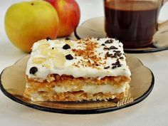 В кулинарния свят на tillia: Ябълкова торта с бисквити Dessert Recipes, Desserts, French Toast, Cooking Recipes, Sweets, Baking, Breakfast, Ethnic Recipes, Food