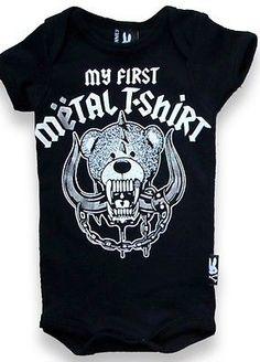 e92b9da3e3e Baby Boys Girls Onesie My First Metal T-Shirt BNWT Bodysuit Romper New Punk  Goth