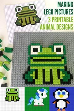 Challenge your kids to create a little holiday fun with these fabulous printable Lego mosaics.