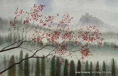 Cómo pintar un paisaje en acuarela - Colinas, árboles y castillo #arte #pintura #ArteDivierte #acuarela #paisaje #castillo #artistleonardo #LeonardoPereznieto #tutorial  Haz clíck aquí para ver mi libro: http://www.artistleonardo.com/#!ebooks/cwpc