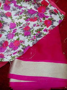 Latest Chiffon Saree With Floral Print Blouses | Buy Online Sarees | Elegant Fashion Wear