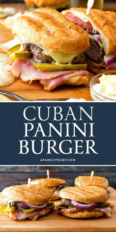 When the craving strikes, and you want a really good, juicy burger – make our Cuban Panini Burger! When the craving strikes, and you want a really good, juicy burger – make our Cuban Panini Burger! It's a delicious mashup of two favorite sandwiches. Cuban Recipes, Beef Recipes, Cooking Recipes, Barbecue Recipes, Cooking Tips, Panini Recipes, Sandwich Recipes, Cuban Sandwich, Cuban Burger