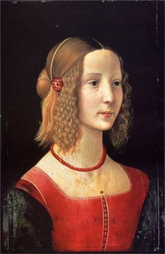 Domenico Ghirlandaio, Portrait of a Girl. c. 1490