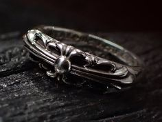 CHROME HEARTS Baby Classic Ring /Floral Cross