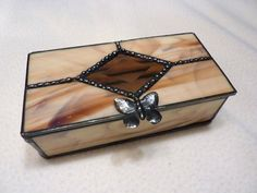 Stained Glass Box with Diamond Beveled Lid  by WildwindsGlass, $32.00